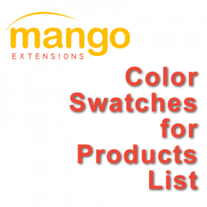 Color Swatches for Products List