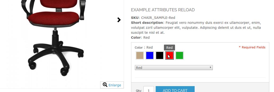 Magento simple product attributes - sku, name and description - on